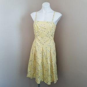 Sherrie Bloom Chetta B yellow floral dress size 10